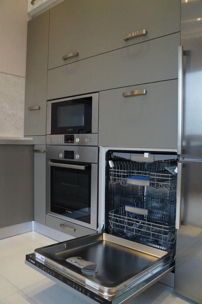 Белый кухонный гарнитур-Кухня из ЛДСП «Модель 196»-фото6