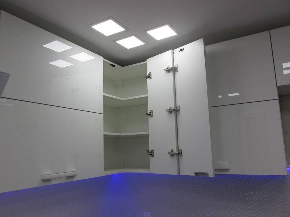 Белый кухонный гарнитур-Кухня из пластика «Модель 143»-фото5