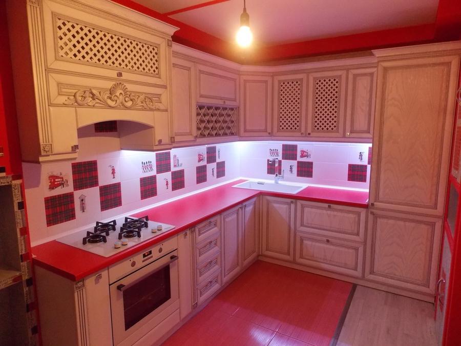 Встроенная кухня-Кухня из шпона «Модель 13»-фото2