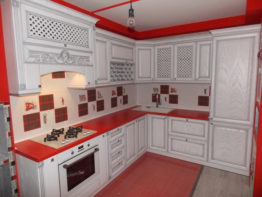 Встроенная кухня-Кухня из шпона «Модель 13»-фото1