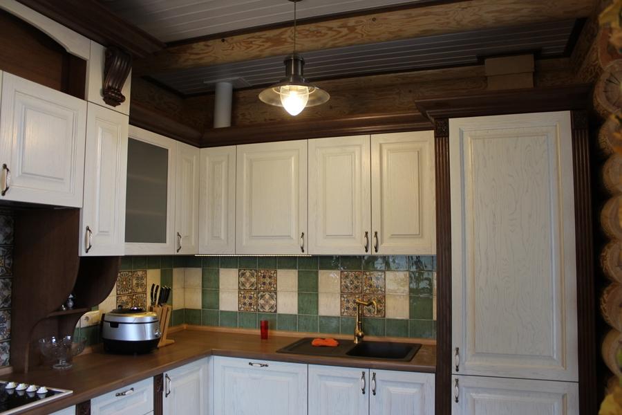 Белый кухонный гарнитур-Кухня из массива «Модель 40»-фото5