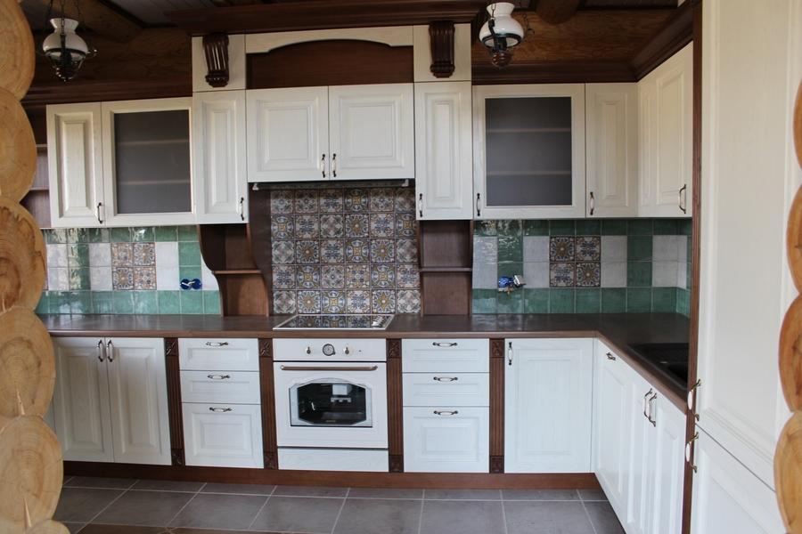 Белый кухонный гарнитур-Кухня из массива «Модель 40»-фото1