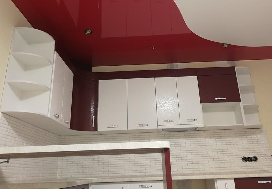 Встроенная кухня-Кухня МДФ в эмали «Модель 18»-фото6