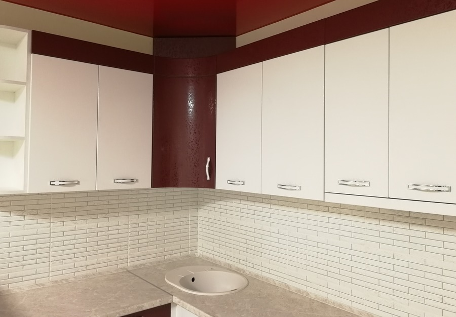 Встроенная кухня-Кухня МДФ в эмали «Модель 18»-фото4