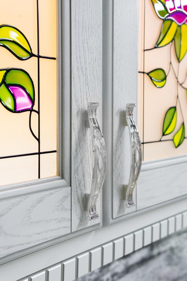Белый кухонный гарнитур-Кухня МДФ в эмали «Модель 47»-фото6