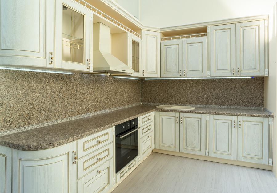 Белый кухонный гарнитур-Кухня МДФ в пластике «Модель 50»-фото1