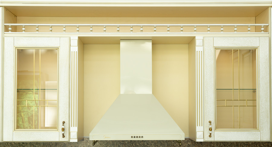 Белый кухонный гарнитур-Кухня МДФ в пластике «Модель 50»-фото4