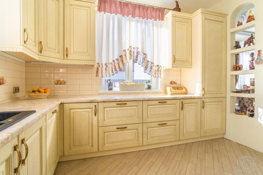 Белый кухонный гарнитур-Кухня из шпона «Модель 3»-фото6