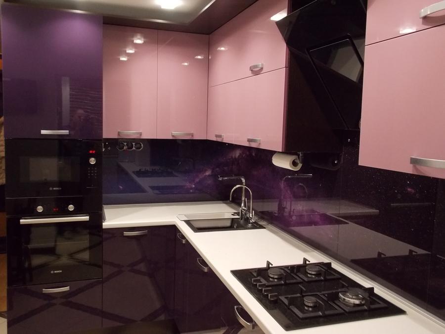 Белый кухонный гарнитур-Кухня из шпона «Модель 16»-фото2