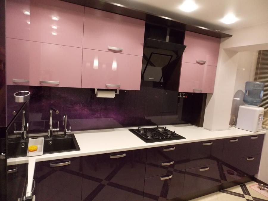 Белый кухонный гарнитур-Кухня из шпона «Модель 16»-фото3
