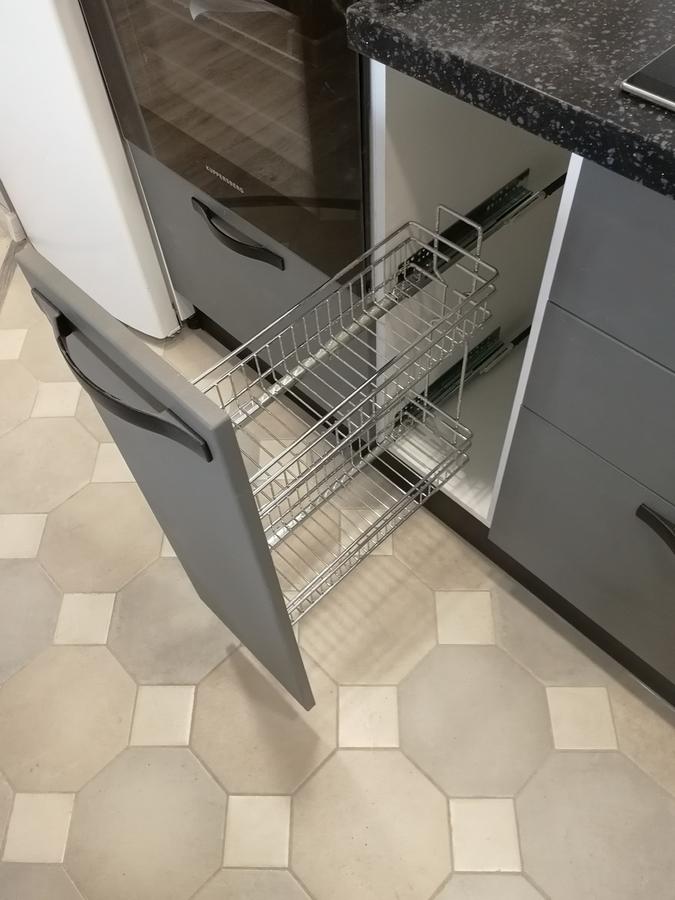 Белый кухонный гарнитур-Кухня МДФ в ПВХ «Модель 29»-фото9