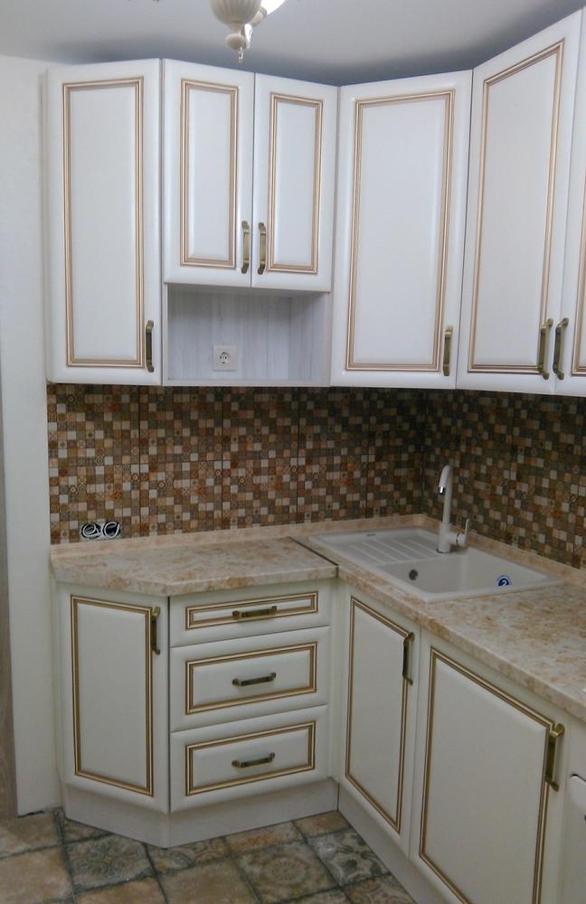 Белый кухонный гарнитур-Кухня МДФ в ПВХ «Модель 340»-фото4