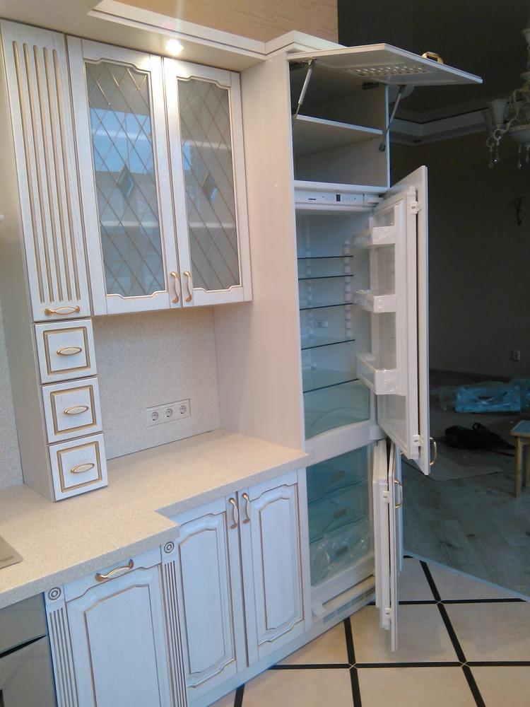 Белый кухонный гарнитур-Кухня из шпона «Модель 341»-фото7