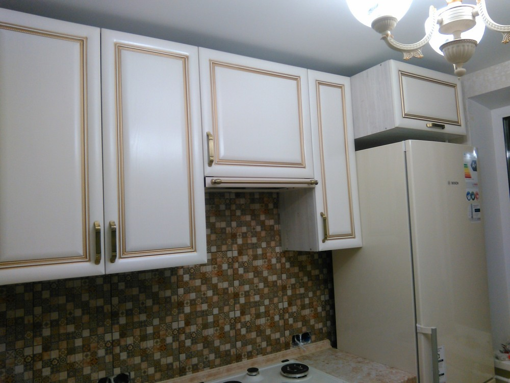 Белый кухонный гарнитур-Кухня МДФ в ПВХ «Модель 340»-фото11