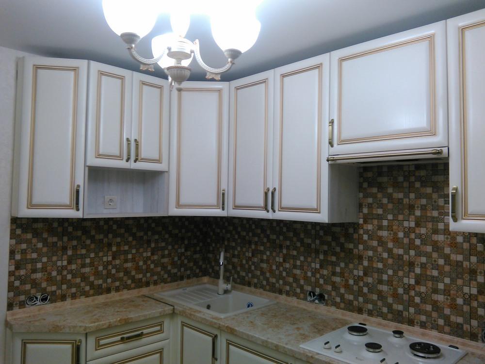 Белый кухонный гарнитур-Кухня МДФ в ПВХ «Модель 340»-фото12