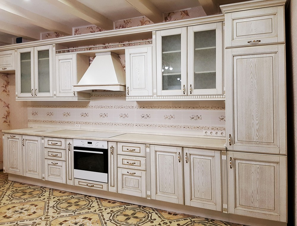 Белый кухонный гарнитур-Кухня из массива «Модель 174»-фото2