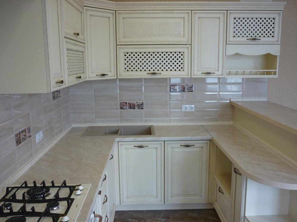 Акриловые кухни-Кухня МДФ в ПВХ «Модель 293»-фото2