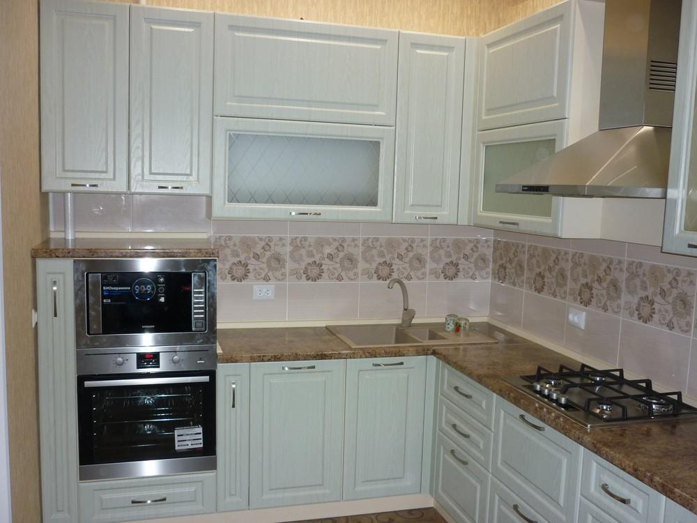 Белый кухонный гарнитур-Кухня МДФ в ПВХ «Модель 306»-фото2