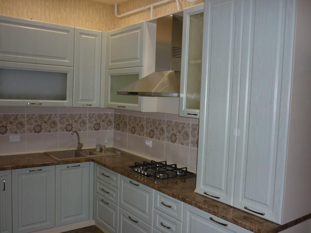 Белый кухонный гарнитур-Кухня МДФ в ПВХ «Модель 306»-фото3