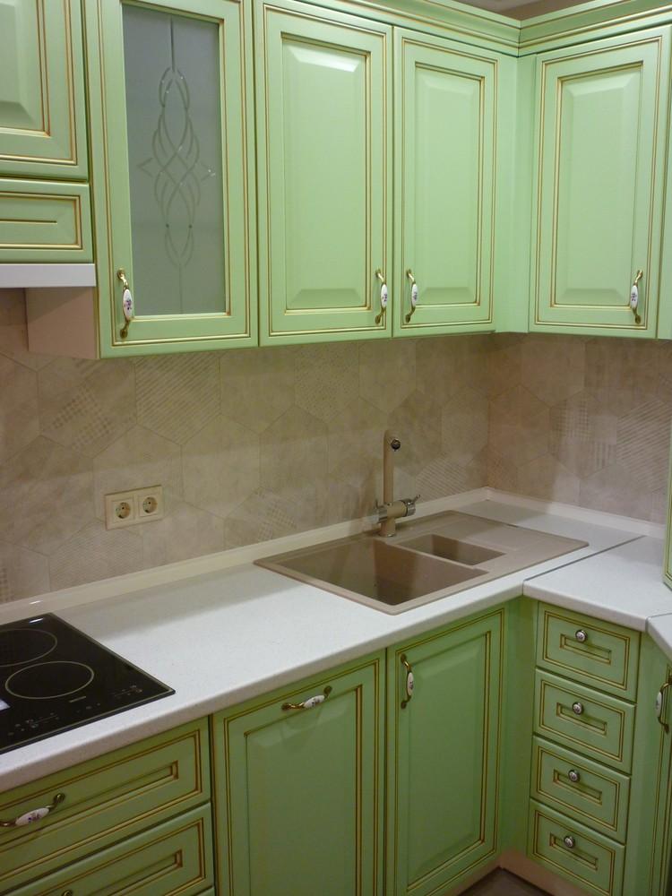 Встроенная кухня-Кухня МДФ в ПВХ «Модель 326»-фото7