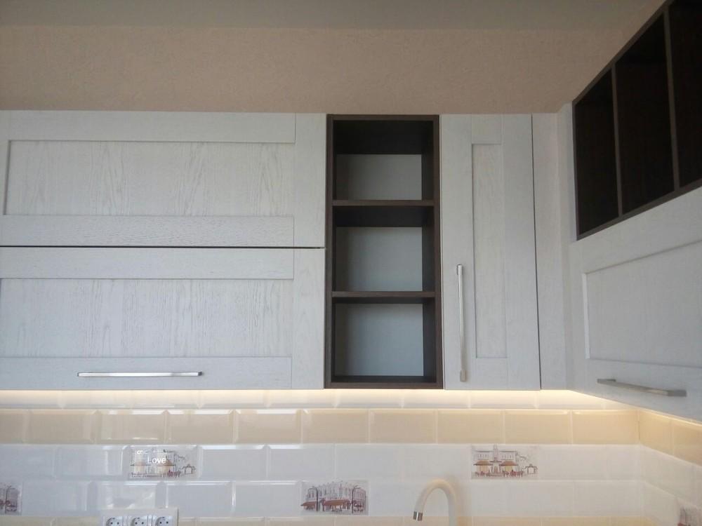 Белый кухонный гарнитур-Кухня МДФ в ПВХ «Модель 342»-фото3