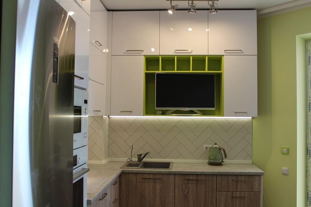 Акриловые кухни-Кухня МДФ в ПВХ «Модель 77»-фото5