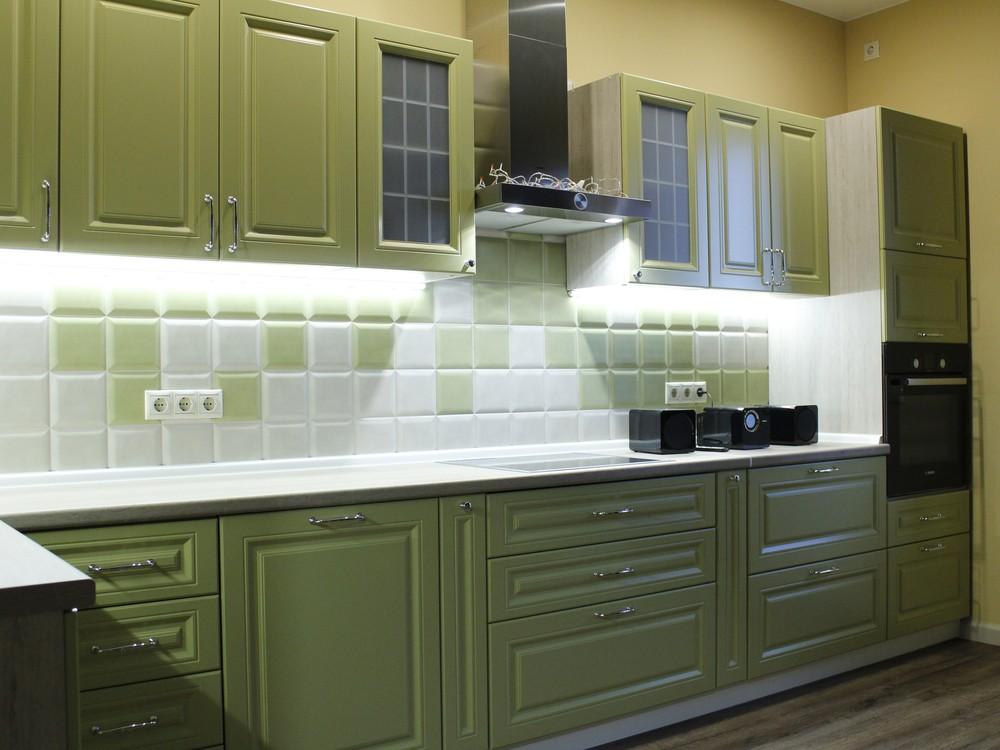 Встроенная кухня-Кухня МДФ в эмали «Модель 123»-фото4