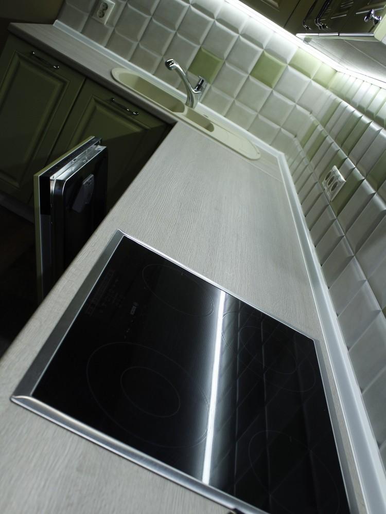 Встроенная кухня-Кухня МДФ в эмали «Модель 123»-фото7