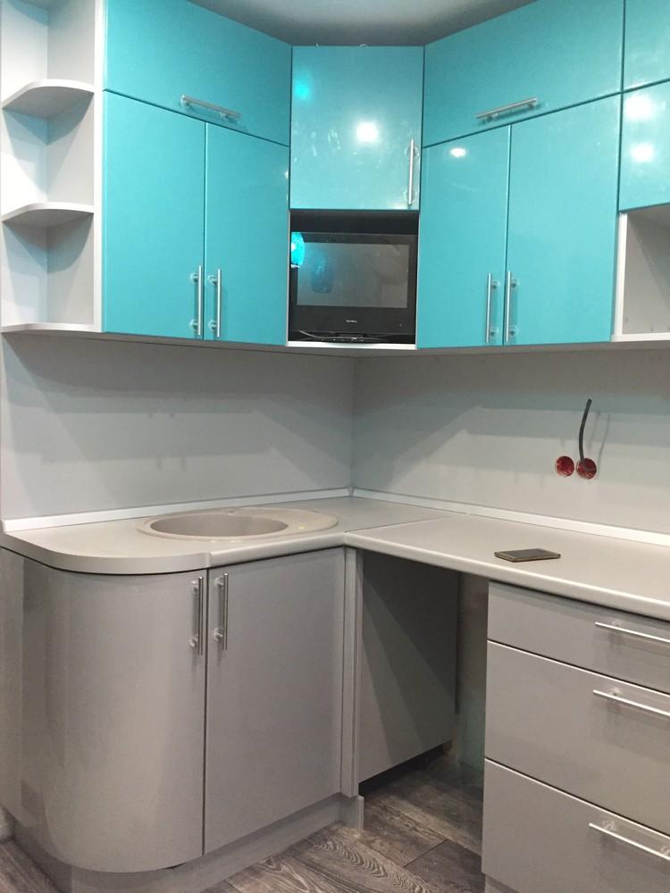 Встроенная кухня-Кухня МДФ в ПВХ «Модель 357»-фото3