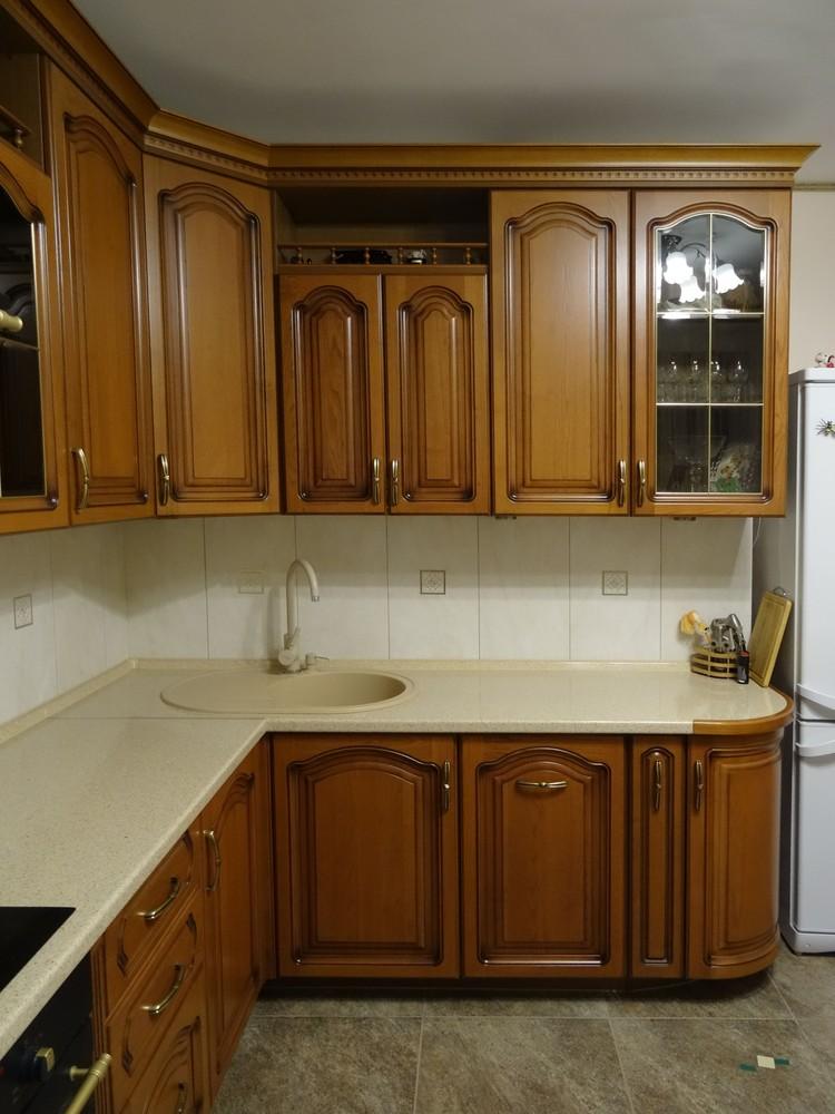 Встроенная кухня-Кухня из массива «Модель 22»-фото2