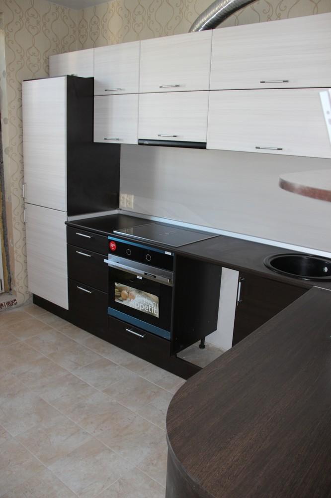 Встроенная кухня-Кухня МДФ в ПВХ «Модель 363»-фото2