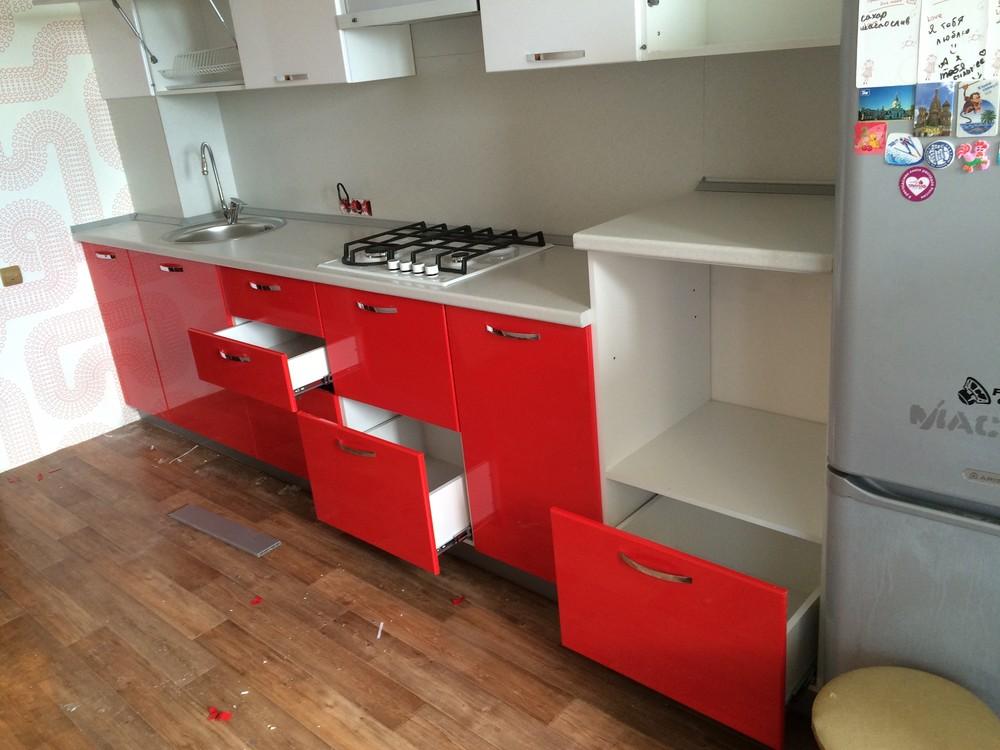 Белый кухонный гарнитур-Кухня МДФ в эмали «Модель 312»-фото5