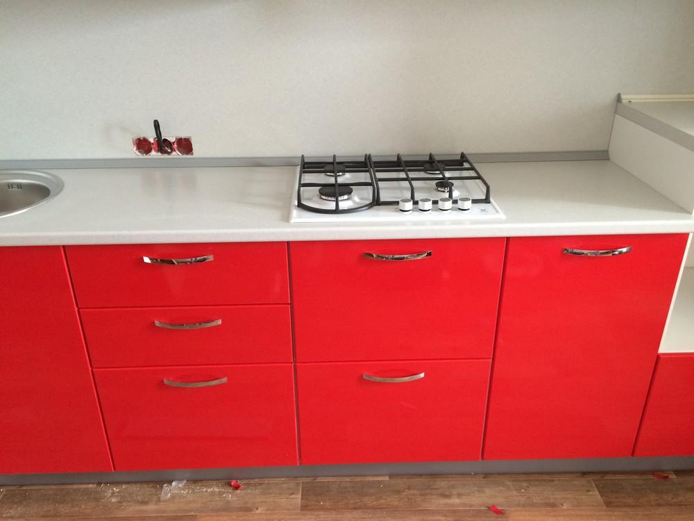 Белый кухонный гарнитур-Кухня МДФ в эмали «Модель 312»-фото7
