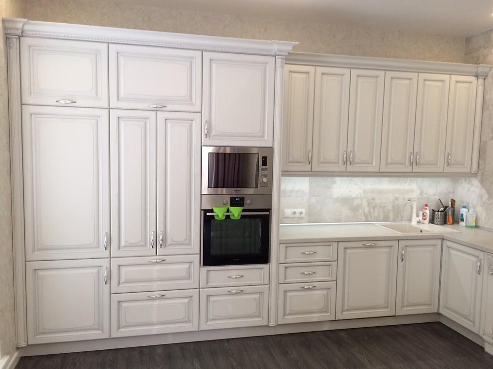 Белый кухонный гарнитур-Кухня из массива «Модель 109»-фото6