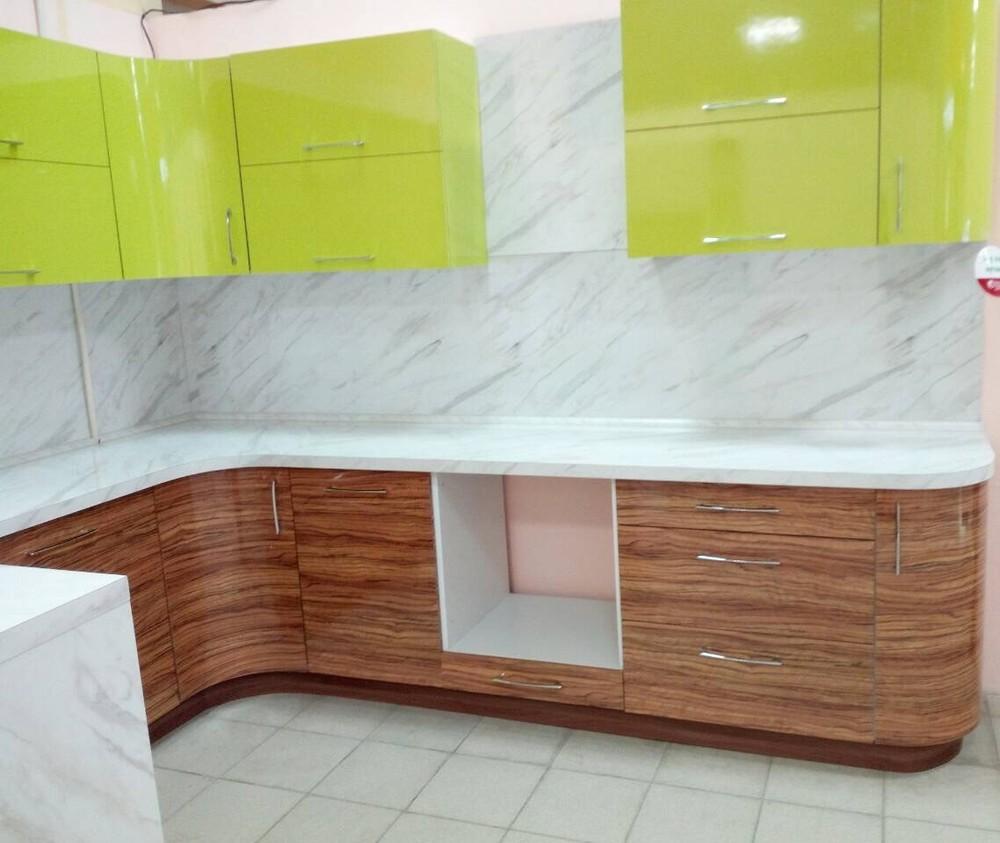 Встроенная кухня-Кухня МДФ в ПВХ «Модель 313»-фото1