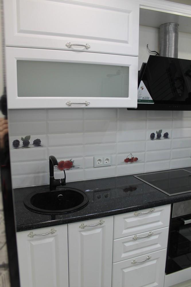 Белый кухонный гарнитур-Кухня МДФ в ПВХ «Модель 332»-фото3