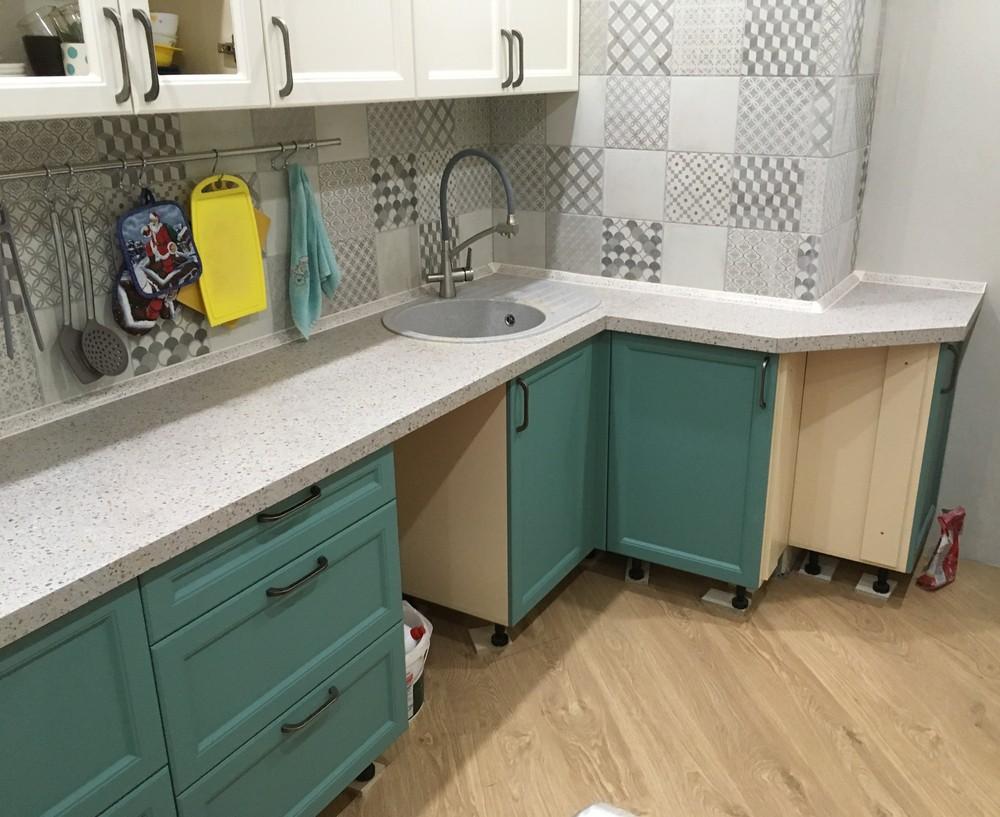 Белый кухонный гарнитур-Кухня МДФ в эмали «Модель 321»-фото3
