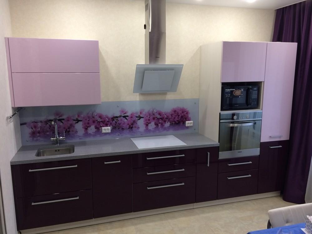 Акриловые кухни-Кухня из пластика «Модель 110»-фото2