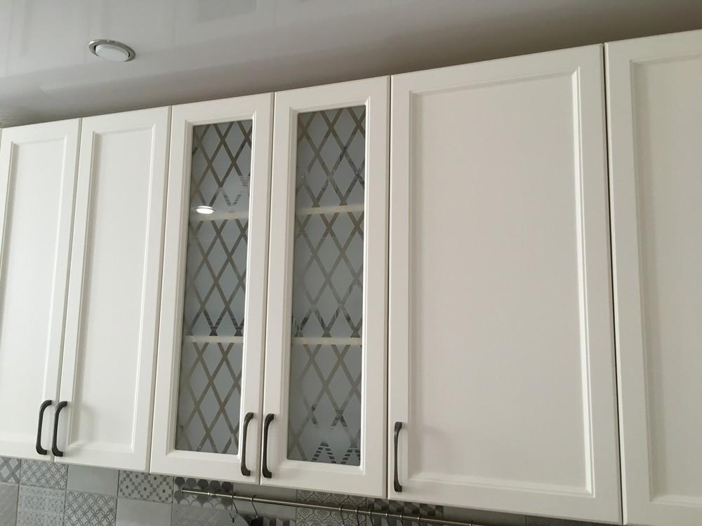 Белый кухонный гарнитур-Кухня МДФ в эмали «Модель 321»-фото4