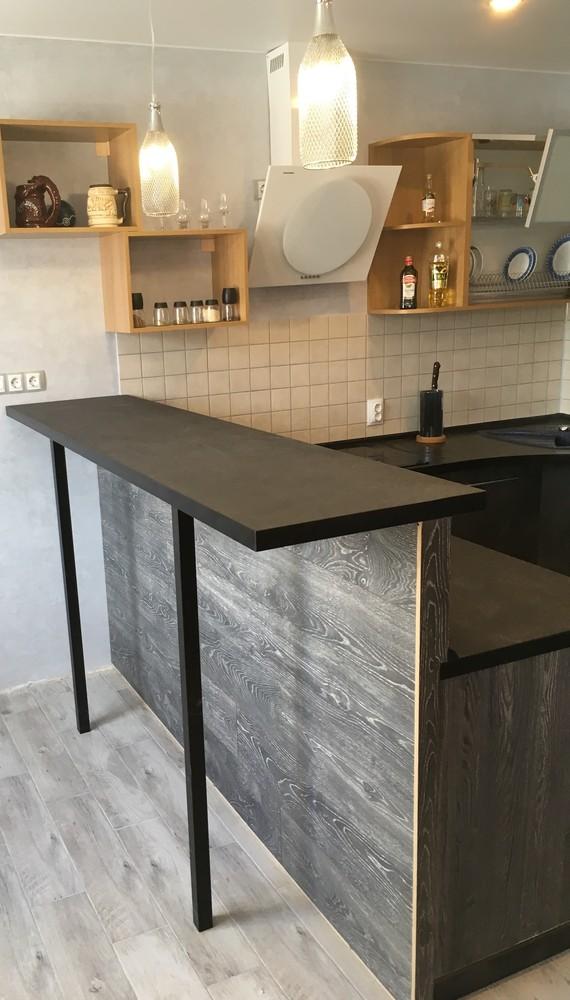 Встроенная кухня-Кухня МДФ в ПВХ «Модель 316»-фото3