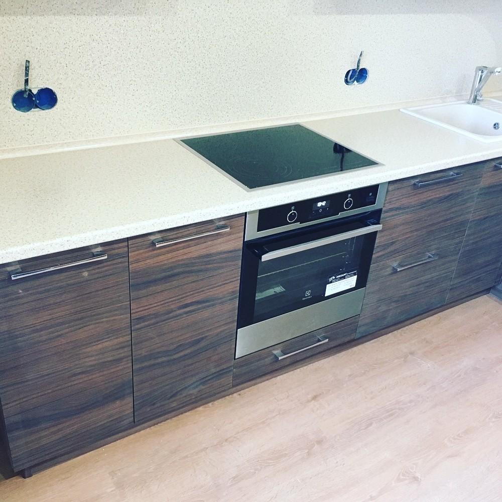 Встроенная кухня-Кухня МДФ в шпоне «Модель 317»-фото7