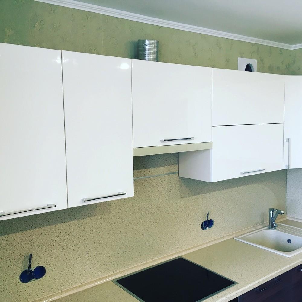 Встроенная кухня-Кухня МДФ в шпоне «Модель 317»-фото9