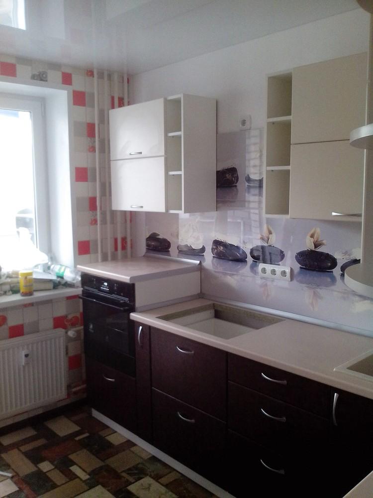 Белый кухонный гарнитур-Кухня МДФ в ПВХ «Модель 327»-фото2