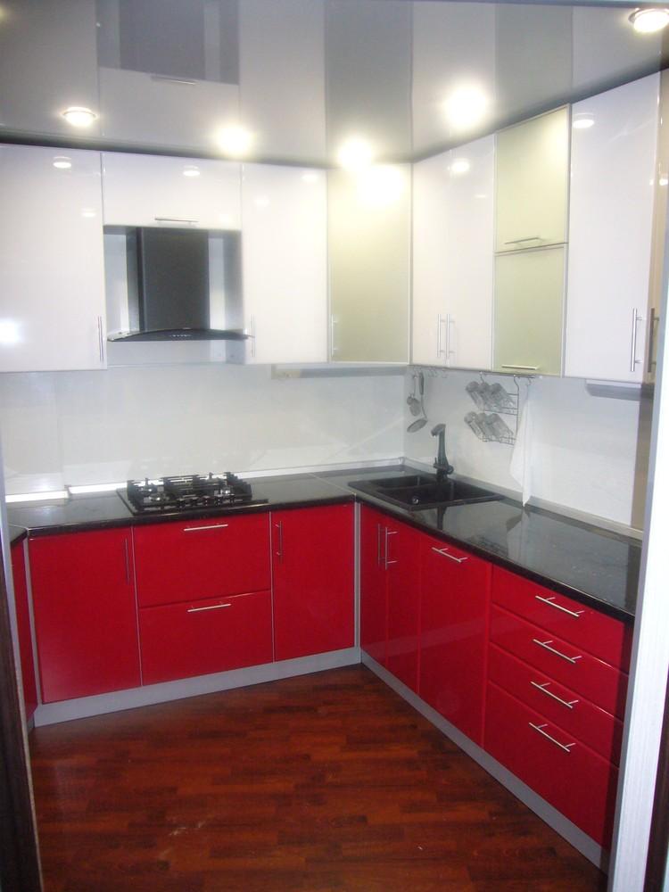 Встроенная кухня-Кухня МДФ в ПВХ «Модель 351»-фото1