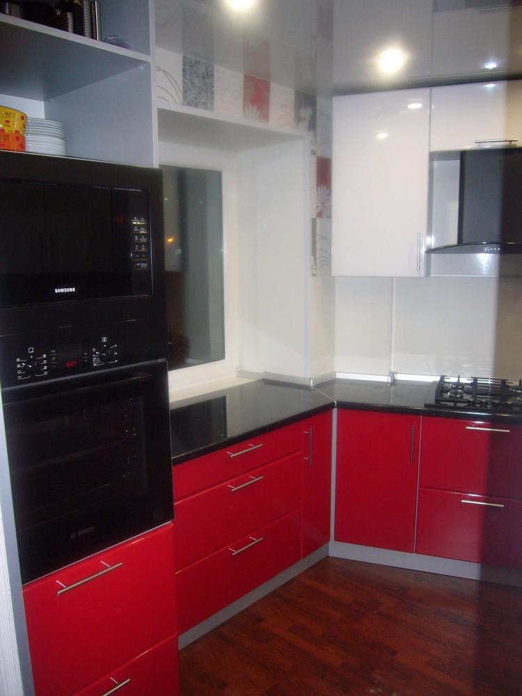 Встроенная кухня-Кухня МДФ в ПВХ «Модель 351»-фото3