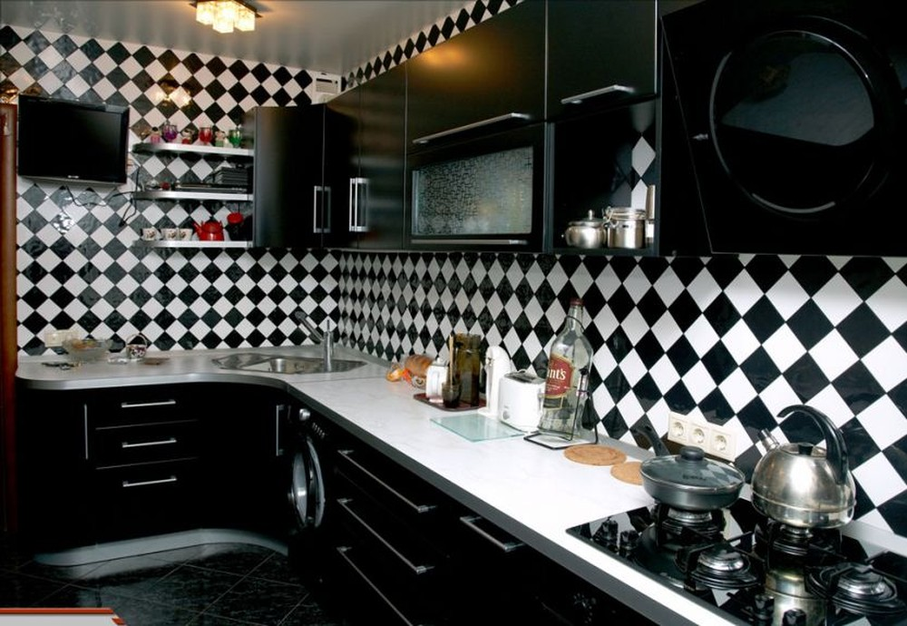 Встроенная кухня-Кухня МДФ в ПВХ «Модель 372»-фото6