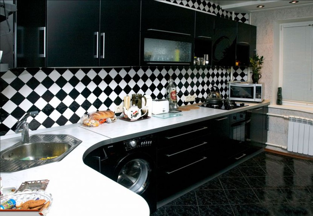 Встроенная кухня-Кухня МДФ в ПВХ «Модель 372»-фото4
