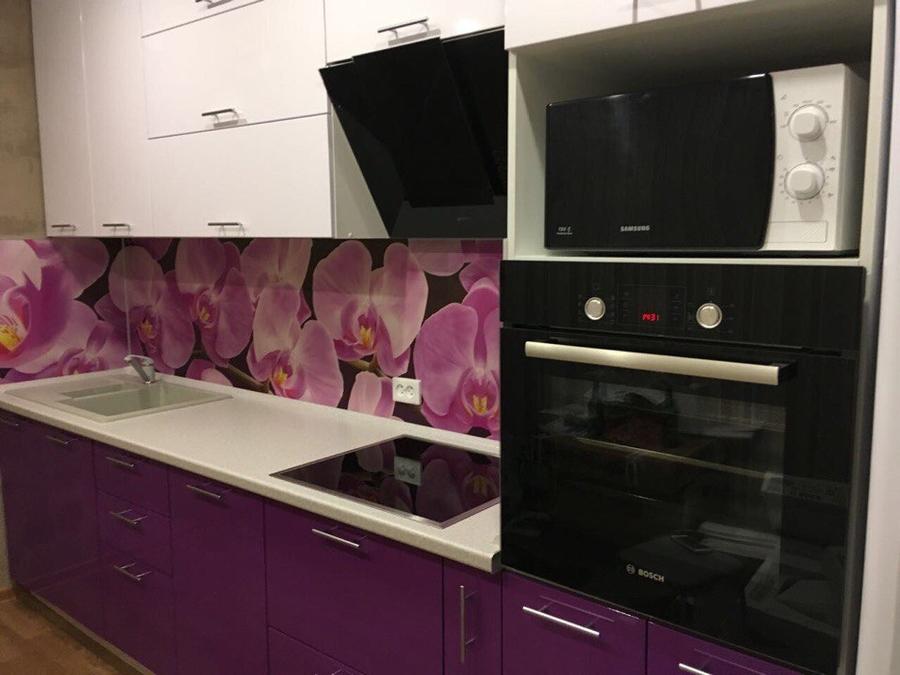 Белый кухонный гарнитур-Кухня из пластика «Модель 267»-фото2