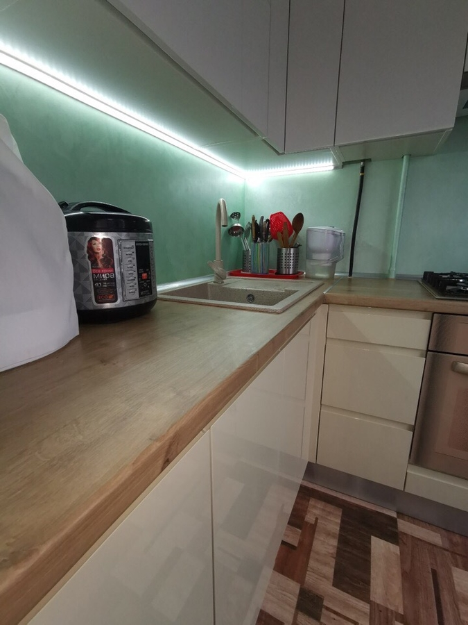 Белый кухонный гарнитур-Кухня МДФ в эмали «Модель 173»-фото3