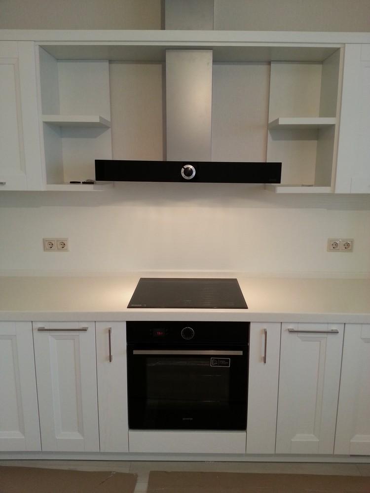 Белый кухонный гарнитур-Кухня МДФ в ПВХ «Модель 274»-фото1